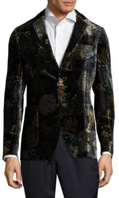 Etro Printed Velvet Cotton Jacket
