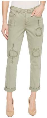 Tribal 25 Stretch Twill Five-Pocket Boyfriend Pants in Aloe Women's Jeans