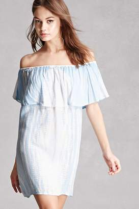 Forever 21 Boho Me Tie-Dye Flounce Dress