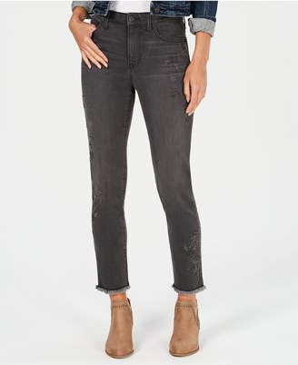 Style&Co. Style & Co Petite Studded Slim-Leg Ankle Jeans