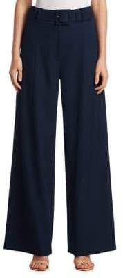 Oscar de la Renta Cotton Wide-Leg Pants