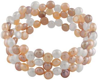 Splendid Pearls Freshwater Pearls 6-7Mm Freshwater Pearl Stretch Bracelet
