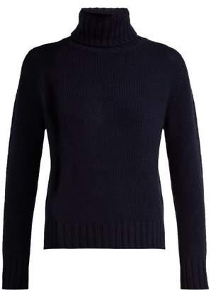 Allude Roll Neck Cashmere Sweater - Womens - Dark Navy