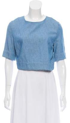 3x1 NYC Chambray Crop Top