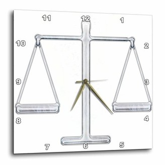 Justice 3dRose Scale of chrome), Wall Clock, 15 by 15-inch