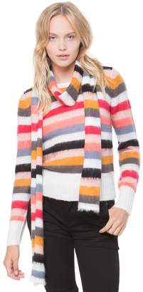 Juicy Couture Colorful Stripe Pullover Sweater with Scarf
