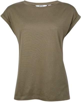24b391d0b96 Dorothy Perkins Womens Petite Khaki Roll Sleeve T