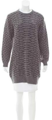 Cédric Charlier Wool Sweater Dress