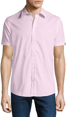 Ben Sherman Men's End-On-End Short-Sleeve Sport Shirt, Pink