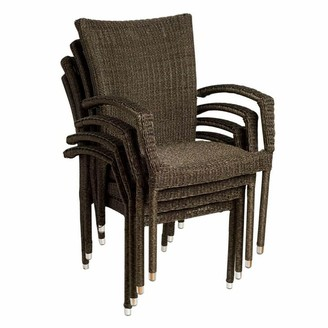 Atlantic 4-pc. Bari Wicker Outdoor Arm Chair Set