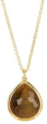 Ippolita 18K Gold Rock Candy(R) Tigers Eye Doublet Teardrop Pendant Necklace