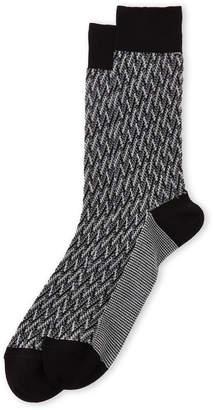 Missoni Zigzag Knit Crew Socks
