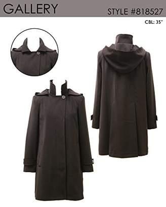 Gallery Women's Petite Dressy A line Polyester Gabardine rain Coat