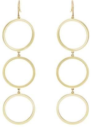 Jennifer Meyer Women's Three-Open-Circle Drop Earrings - Gold
