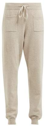 Allude Drawstring Wool And Cashmere Blend Track Pants - Womens - Brown