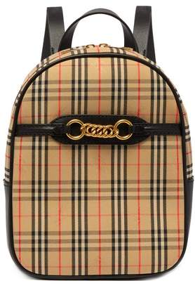 Burberry 1983 Check Canvas Backpack - Womens - Black Multi