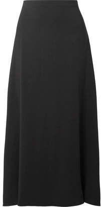 The Row Sprecher Stretch-cady Midi Skirt - Black