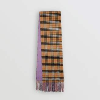 Burberry Colour Block Vintage Check Cashmere Scarf