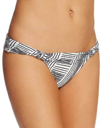 Vix Brushed Stripe Bia Foldover Bikini Bottom