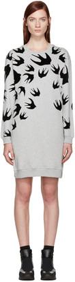 McQ Alexander Mcqueen Grey Swallows Pullover Dress $360 thestylecure.com