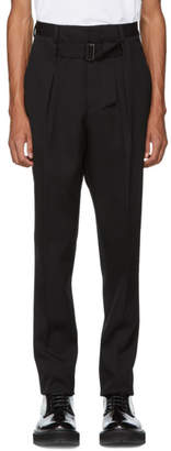 Givenchy Black Pleated Trousers