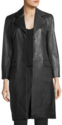 The Row Rami Mid-Length Leather Coat