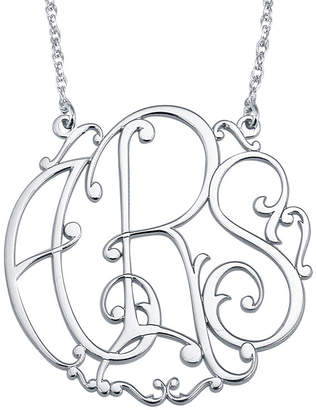 FINE JEWELRY Personalized 30mm Ivy Monogram Necklace
