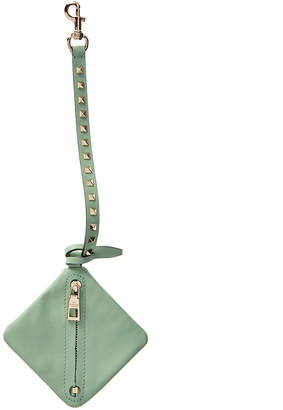 Valentino Lovestud Leather Pouch Bag Charm