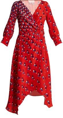 Peter Pilotto Polka-dot print silk-crepe wrap dress