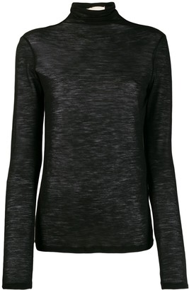 Semi-Couture Semicouture turtleneck sheer jumper