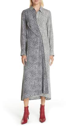 Rag & Bone Karen Cheetah Print Silk Dress