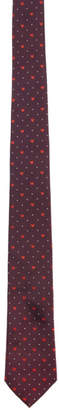 Paul Smith Burgundy Silk Heart and Dot Tie
