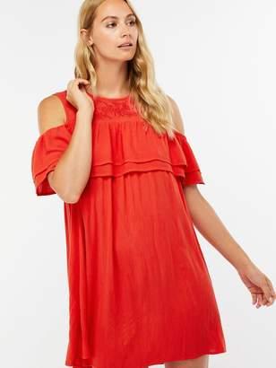 Accessorize Double Ruffle Beach Dress - Red