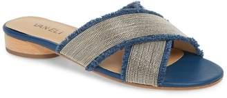 VANELi Baret Embellished Cross Strap Slide Sandal