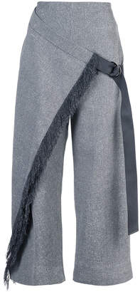 Dion Lee fringed cropped trousers