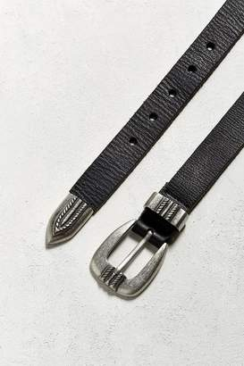 Urban Outfitters UO Metal Tipped Leather Belt $29 thestylecure.com