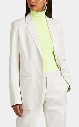 Helmut Lang Women's Leather Two-Button Blazer - White