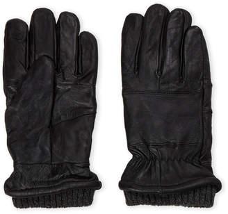 London Fog Black Leather Touchscreen Gloves