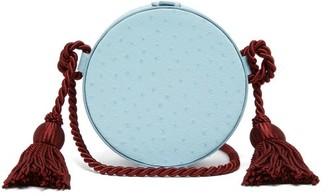 Hillier Bartley Tassel Embellished Leather Cross Body Bag - Womens - Light Blue