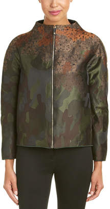 Moncler Floral Camoflouage Zip-Up Jacket