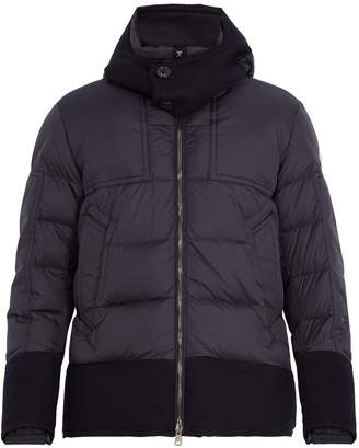 Moncler Dominique contrast-trim quilted down jacket