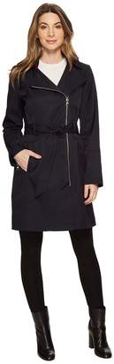 Vince Camuto Asymmetrical Belted Trench Women's Coat