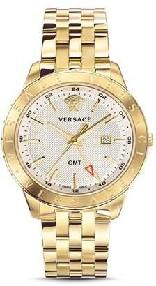 Versace Business Slim Gold Watch, 43mm
