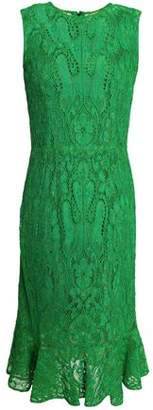 Dolce & Gabbana Fluted Corded Lace Dress