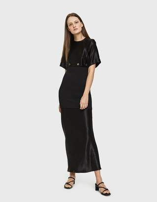 CHRISTOPHER ESBER Buttoned Disect Tee Dress in Black