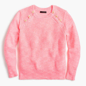 Textured sweater with anchor buttons in variegated pink $79.50 thestylecure.com