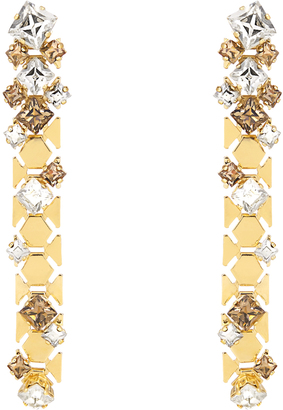 LANVIN Chain Lumiere crystal drop earrings $645 thestylecure.com