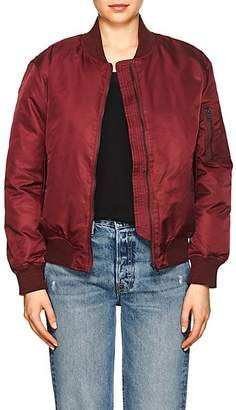 William Rast WOMEN'S TECH-TWILL BOMBER JACKET - RED SIZE L