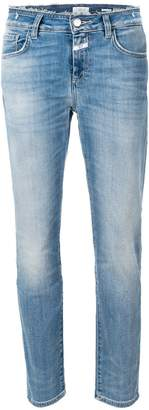 Closed frayed cotton jeans