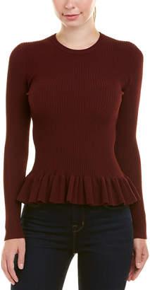 Autumn Cashmere Ribbed Peplum Top